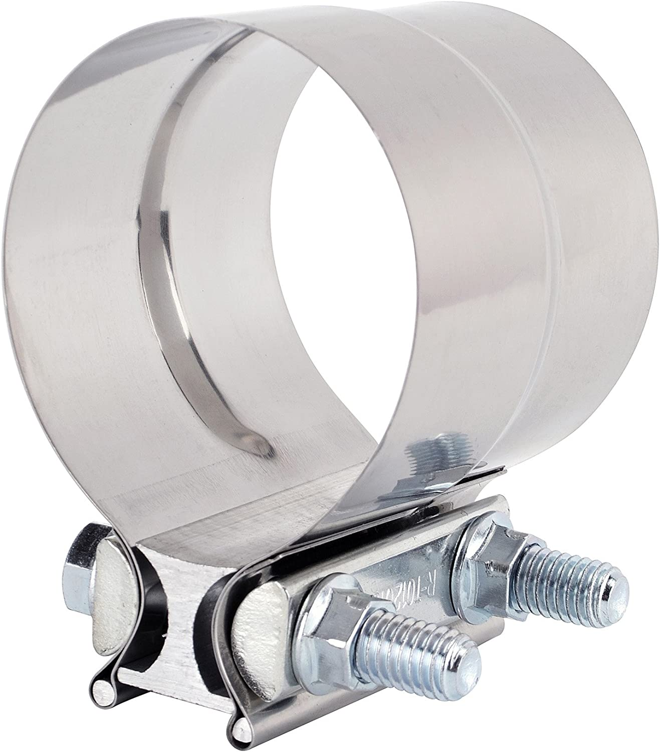 EVIL ENERGY 2.25inch 2 1//4 Lap Joint Exhaust Band Clamp Exhaust Repair Preformed 304 Stainless Steel 2pcs