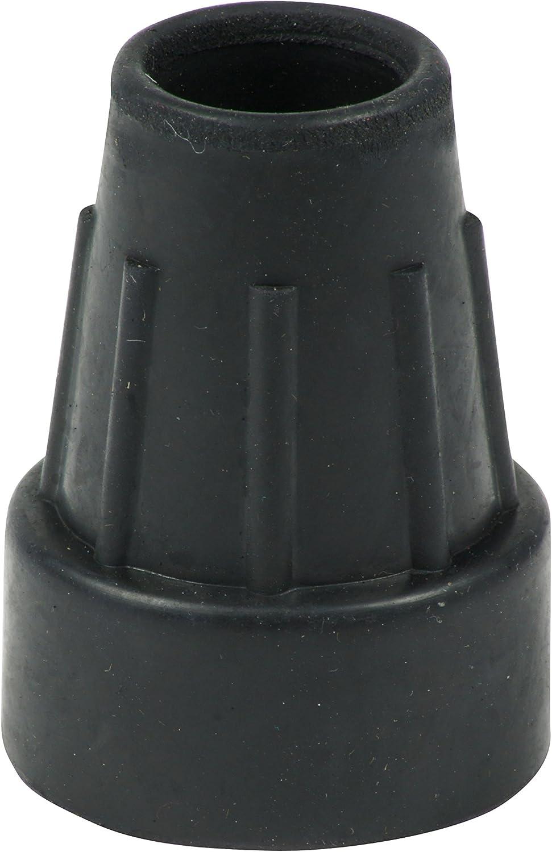 Cantidad 4x: 18/19mm Conteras Virolas De Goma Para Muletas Y Bastones - Negro - Por Lifeswonderful®