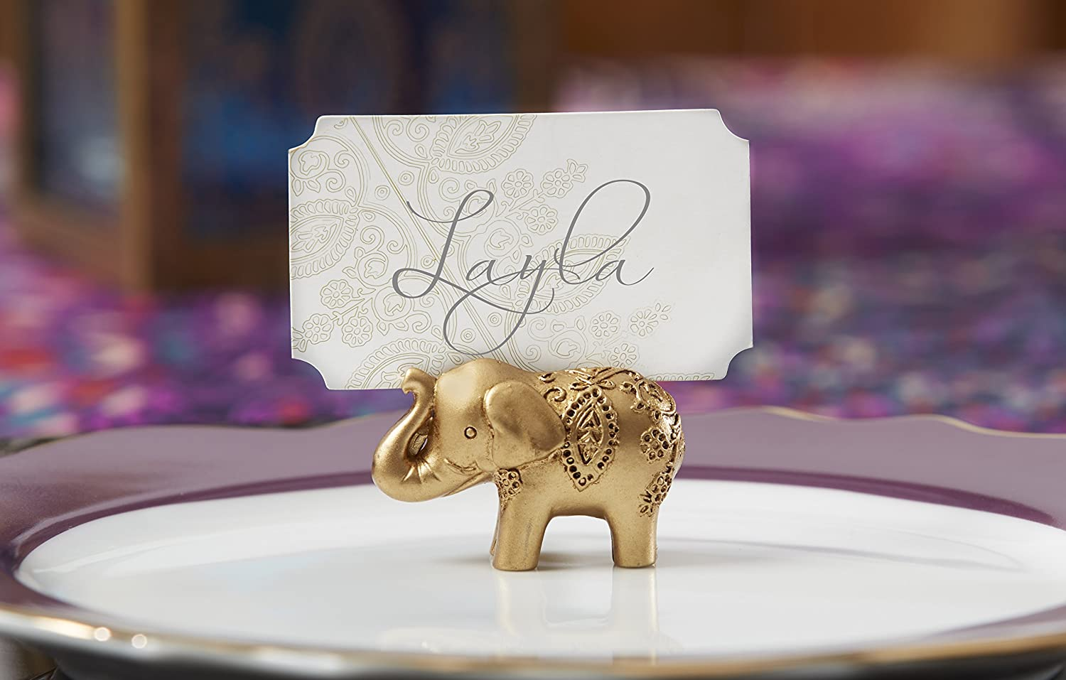 Amazon Kate Aspen Lucky Golden Elephant Place Card Holders Set Of 6 Home Kitchen