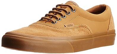68289cbe4d Vans Men s Era Suede and Buck Tobacco Brown Leather Sneakers - 7 UK ...