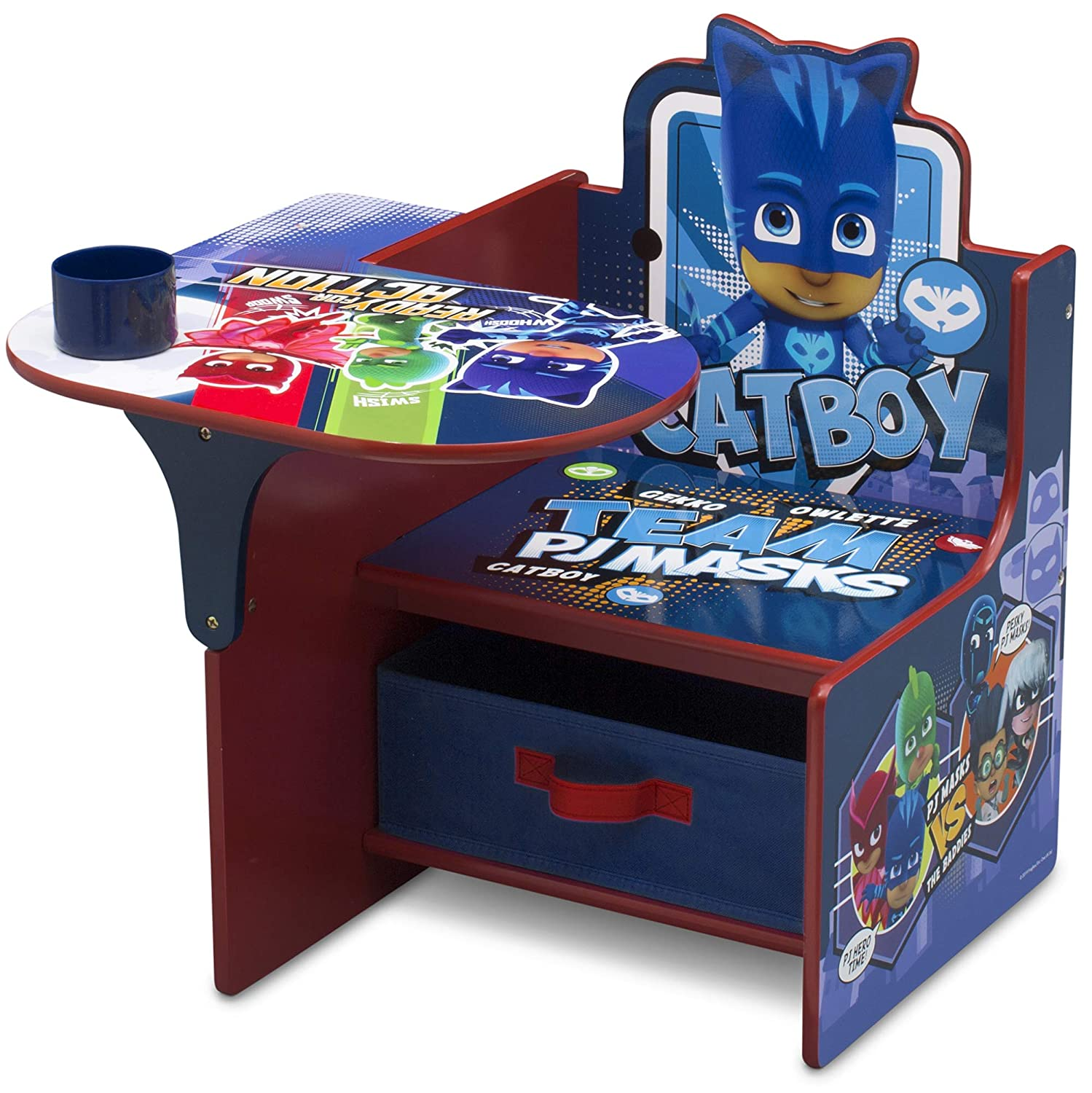 Delta Children Chair Desk with Storage Bin, PJ Masks, Blue