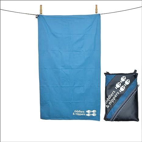 Toalla de microfibra infantil, con bolsa de transporte; superabsorbente y de secado rápido, diseño compacto; ideal para la playa, piscina, vacaciones, ...