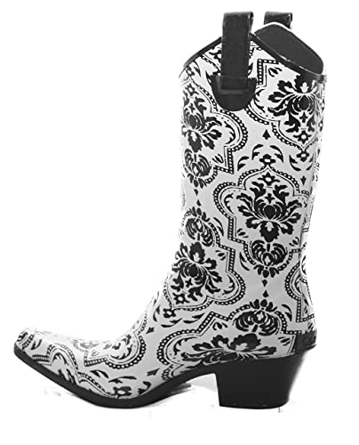 48d0efae477e Corkys Printed Rubber Rodeo Style Women s Rain Boots (5 B (M) US)