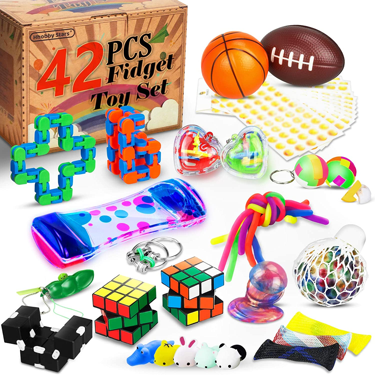 Party Favors Lvoess Fidget Toys Set School Classroom Rewards Perfect for Birthday Stress and Anxiety Relief Sensory Fidget Cube 10 Pack for Kids and Adults