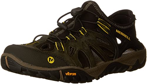 9348cbec311b Merrell Men s All Out Blaze Sieve Water Shoes Green (Olive Night Olive  Night) 10
