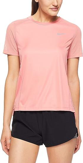 Nike Haut de Running À Manches Courtes Dri fit Miler T Shirt Femme