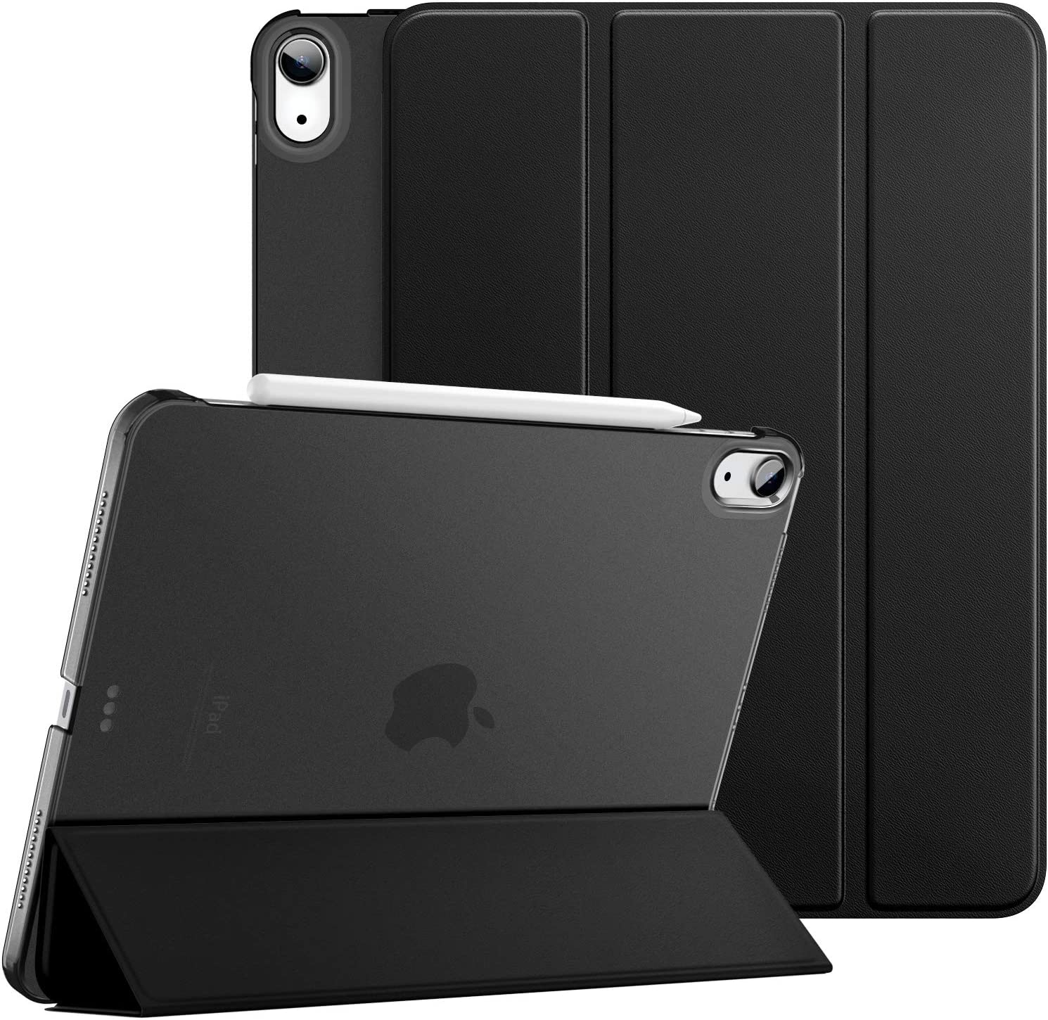 Dadanism iPad Air 4th Generation Case 2020 iPad 10.9 Case, Slim Smart Shell Protective Stand Cover with Translucent Frosted Back, Auto Wake/Sleep, Black