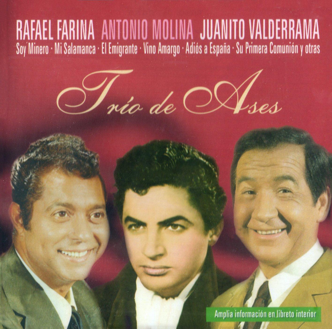 Trío de Ases 1: Rafael Farina, Antonio Molina y Juanito Valderrama: Amazon.es: Música