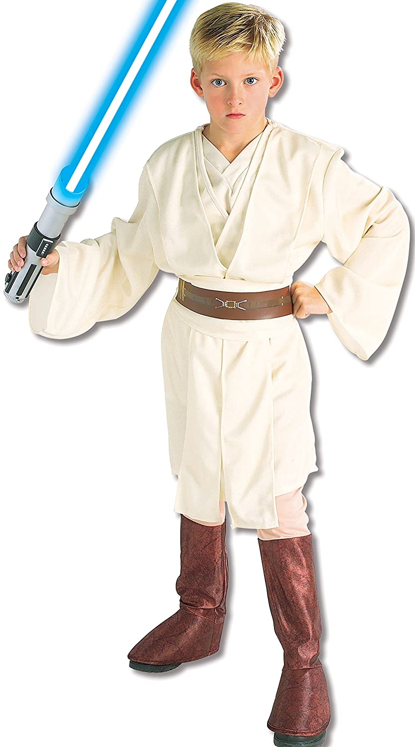 amazon com star wars child s deluxe obi wan kenobi costume medium