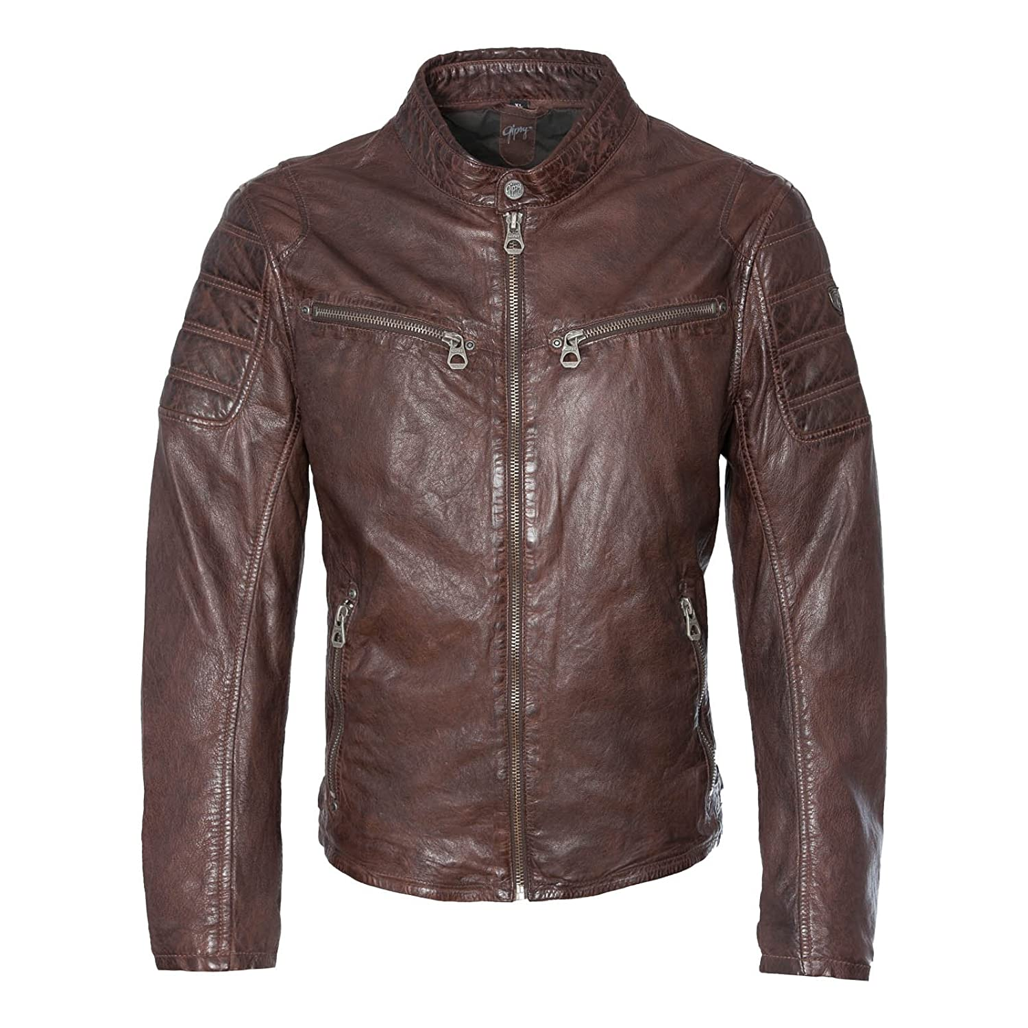 Gipsy by Mauritius Men's Leather Jacket brown dark brown
