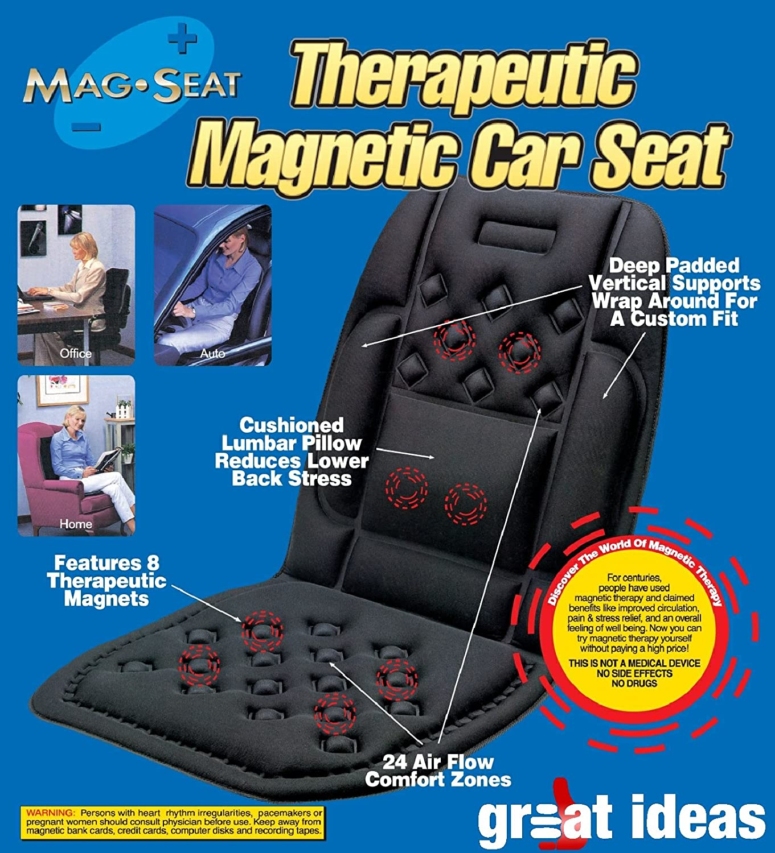 Medipaq Car Seat Support Cushion 24 Air Flow Pockets 8 Magnets