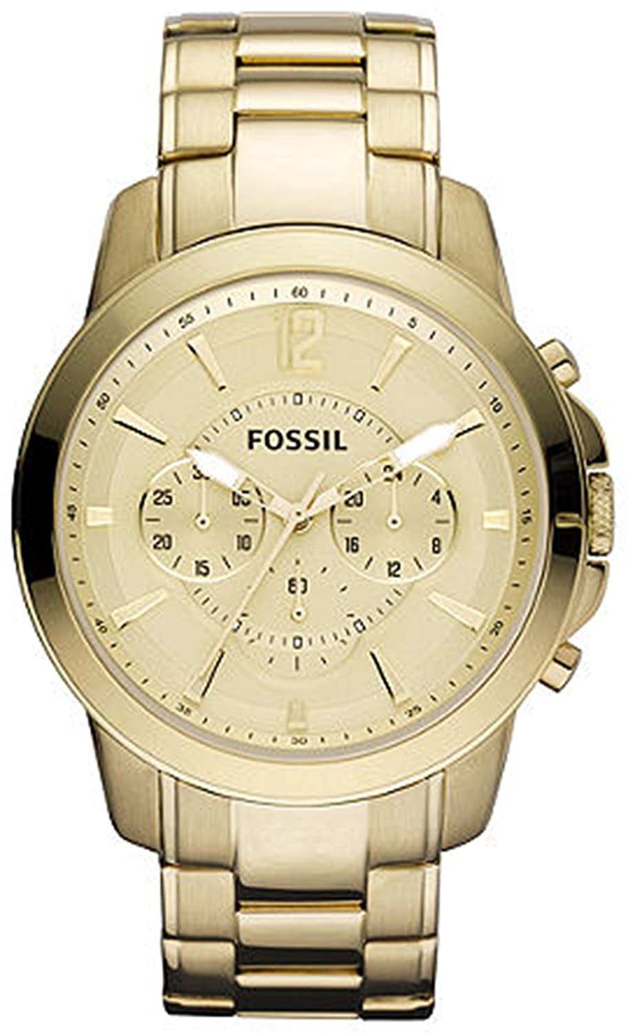 fossil men s grant fs4724 gold gold tone stainles steel quartz fossil men s grant fs4724 gold gold tone stainles steel quartz watch gold dial fossil amazon co uk watches
