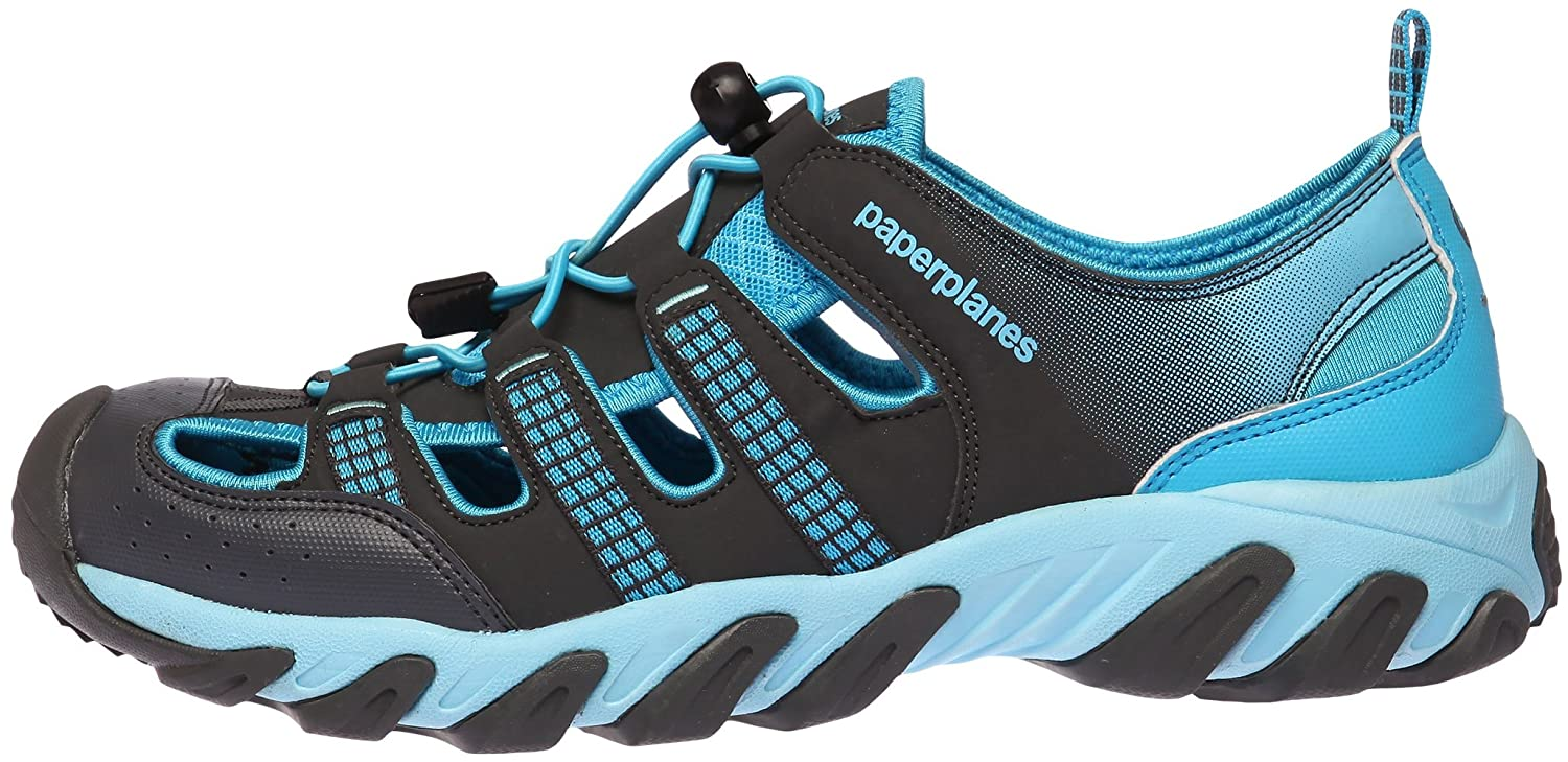 Paperplanes-1326 Unisex Closed Toe Leather Aqua Tracking Sandals Shoes