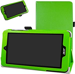 "Acer B1-780 / B1-790 Case,Mama Mouth PU Leather Folio 2-Folding Stand Cover with Stylus Holder for 7"" Acer Iconia One 7 B1-780 / Iconia One 7 B1-790 Android Tablet,Green"