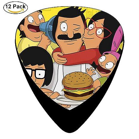 Bob hamburguesas Púas de guitarra púa para guitarra eléctrica o acústica celuloide Pick Set