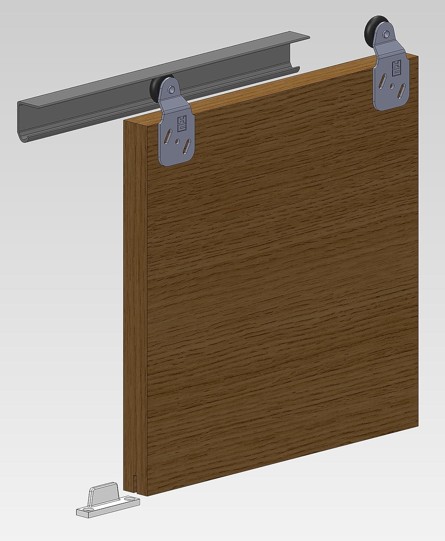 Twin 60 Roller Sliding Door Gear Track Wardrobe System DIY Kit 2 Door 1.5m Opening Hillaldam Coburn
