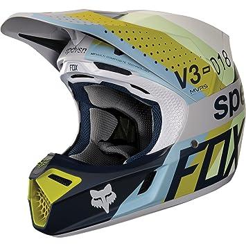 19520-097-S - Fox Racing V3 Draftr Motocross Helmet S Light Grey