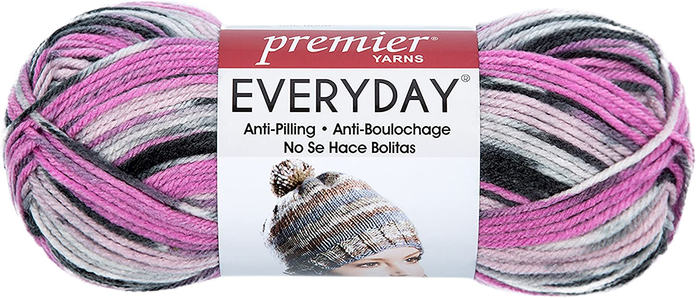 Premier Yarns Deborah Norville Collection Everyday Soft Worsted Prints Yarn: Parfait