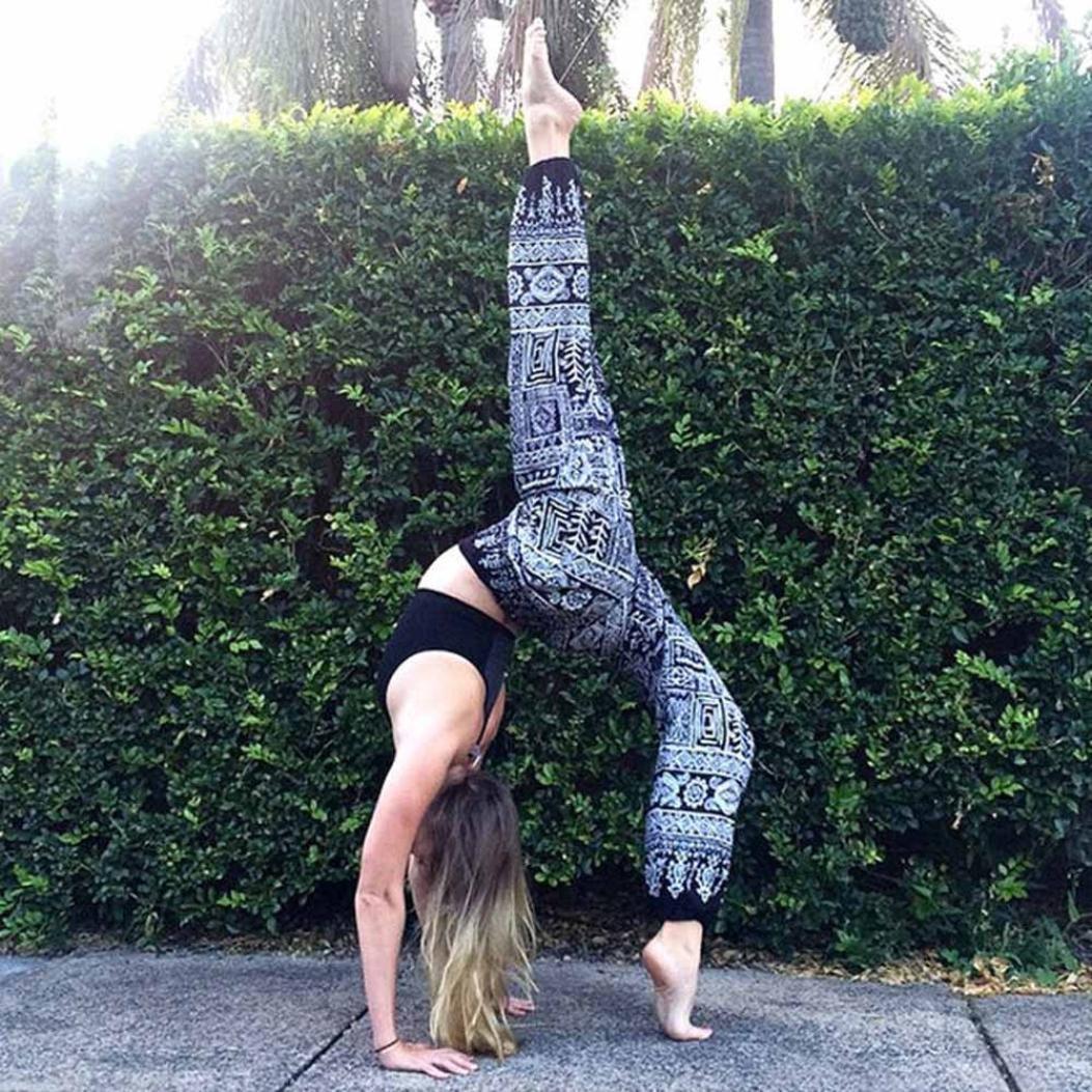dd1f10dbf5db Yoga Pantaloni ,BeautyTop Donna Uomo Yoga Pants Harem tailandese Sportivi  leggings fitness Sport Running yoga Pantaloni da atletica Pantalone (Blu,  ...