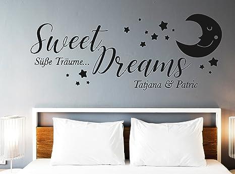 tjapalo® s-pkm347 Wandtattoo Schlafzimmer Spruch Wandtattoo Sweet ...