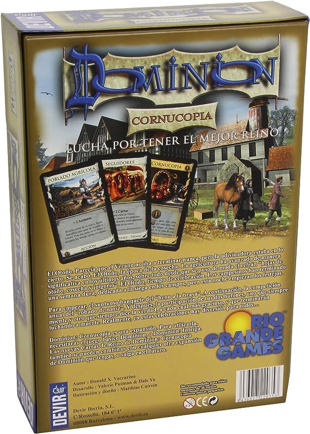 Devir - Dominion Cornucopia, Juego de Mesa (BGCORNU): Amazon.es: Juguetes y juegos
