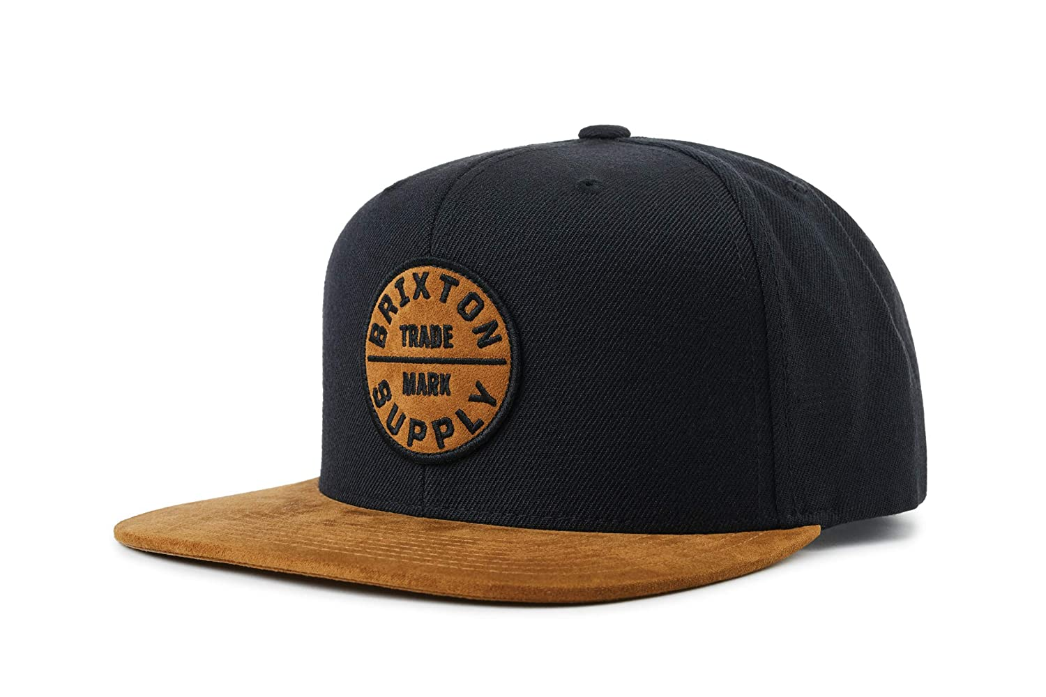 696e82ac54f29 Amazon.com  Brixton Men s Oath III Snapback Cap Copper Black One Size   Clothing