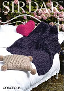 Sirdar 7962 Knitting Pattern Throw Cushion And Cushion Cover In Sirdar  Gorgeous Ultra Super Chunky