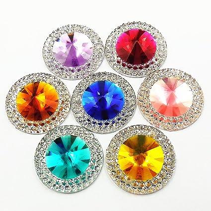 Sew On Stitch pink AB 20x Jewel 15mm GEM CRYSTAL RHINESTONE trim DANCE