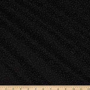 QT Fabrics Basics Quilting Illusions Musical Notes Blender, Yard, Black On Black