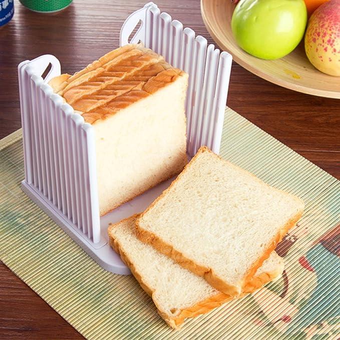 Aimeart Kitchen Tool Bread Loaf Slicer Toast Slicing Guide Even Slices