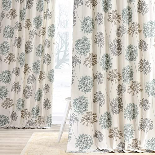 HPD Half Price Drapes PRTW-D05-120 Printed Cotton Curtain 1 Panel