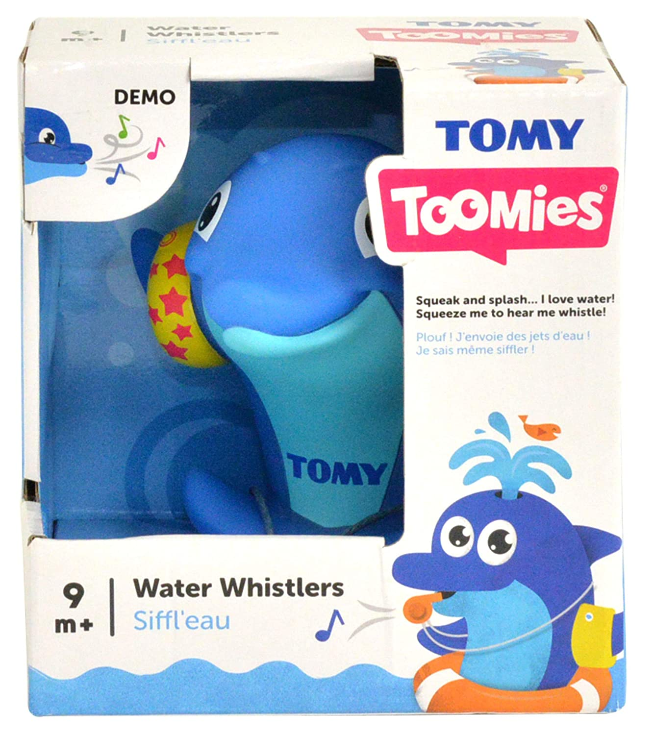 TOMY Toomies Water Whistler Dolphin  Musical Bath Toy  Suitable From 9 Months T6596 Activity & Entertainment