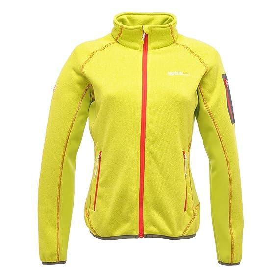 0aee932a3b Regatta Ladies Laney Full Zip Fleece Jacket Green RWA181: Amazon.co ...