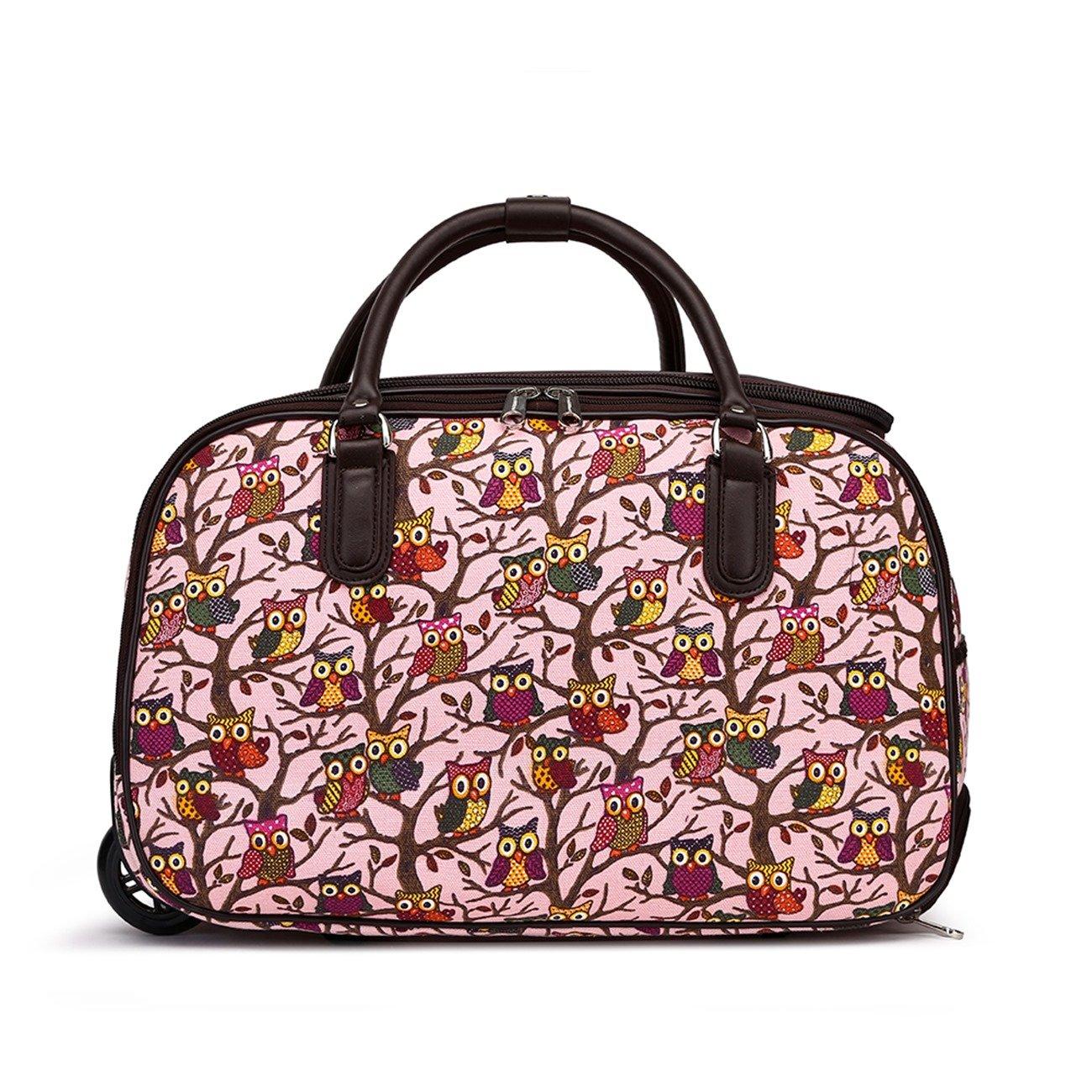 LeahWard Sac /à bagages Holdall pour femme Valise de voyage de bagage /à main Sacs d/école de vacances 005 S BLEU FONC/É DOTS