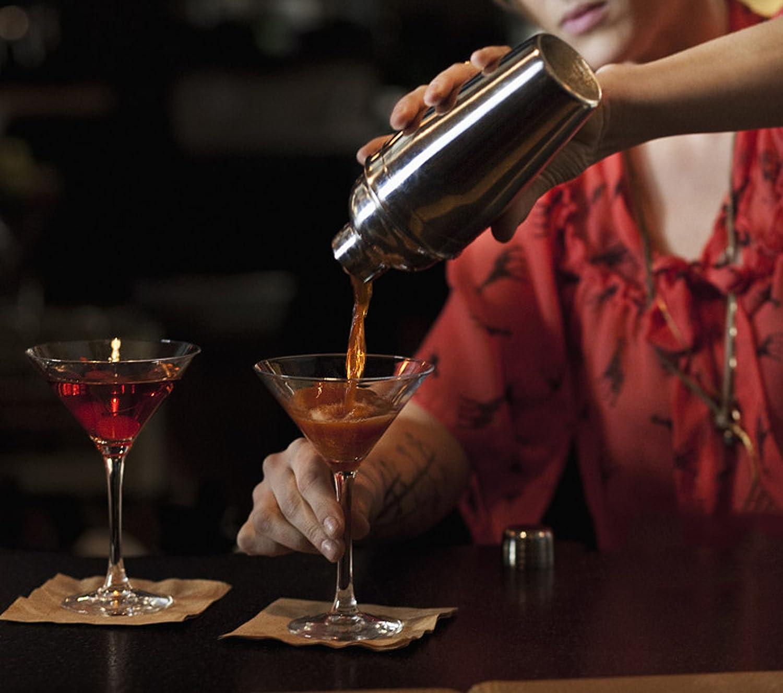 10 Pcs Bartender Kit Cocktail Shaker Bar Set Esup10-Piece Bar Accessories Cocktail Shaker with Manhattan Mixer Set Perfect Christmas Gifts