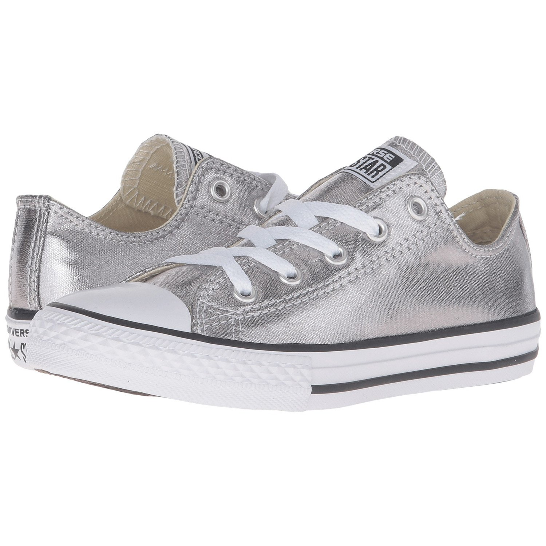 Converse Kid's Chuck Taylor All Star Seasonal Ox Fashion Sneaker Shoe - Metallic Gunmetal/White/Black - 2