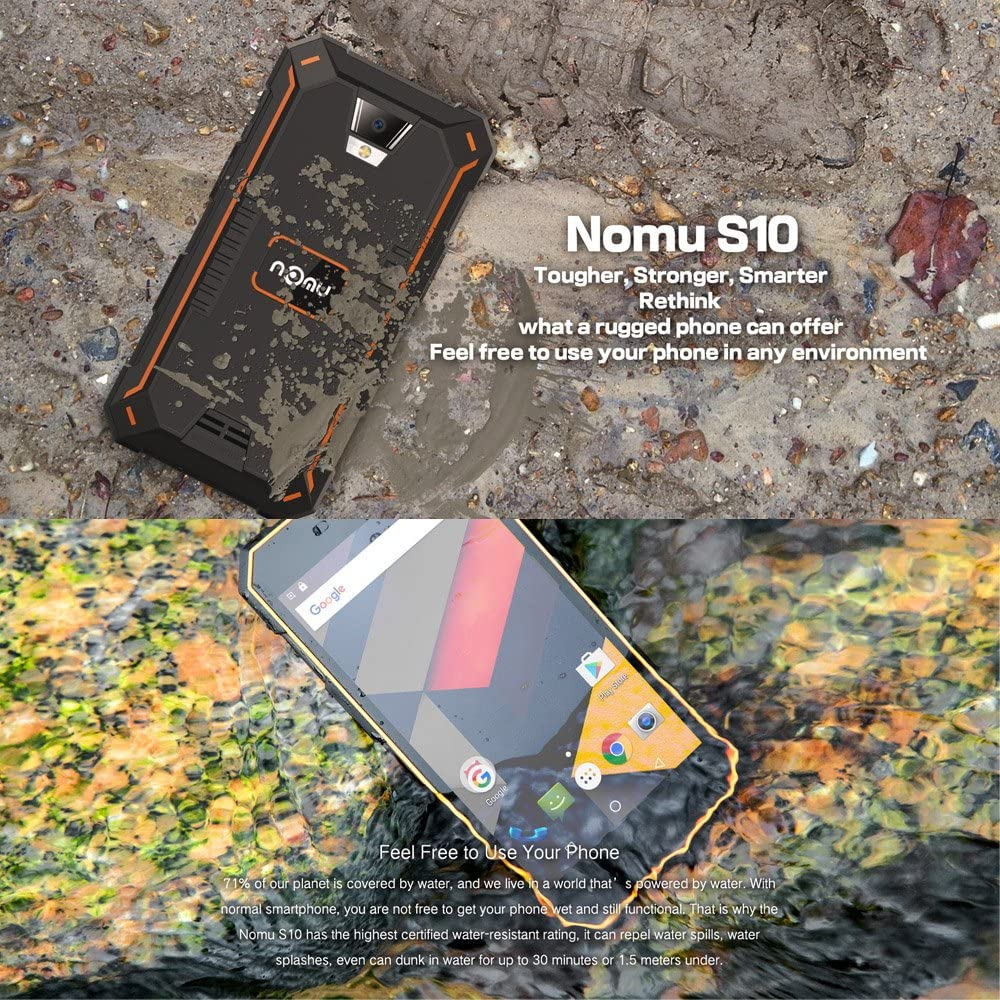 NOMU S10 Smartphone IP68 Impermeable 4G LTE Dustproof Shockproof ...