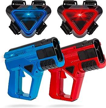 Amazon.com: SHARPER IMAGE - Juego de pistola y chaleco láser ...