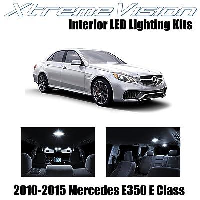Xtremevision Interior LED for Mercedes E350 E550 E63 AMG E Class Sedan 2010-2015 (7 Pieces) Pure White Interior LED Kit + Installation Tool Tool: Automotive