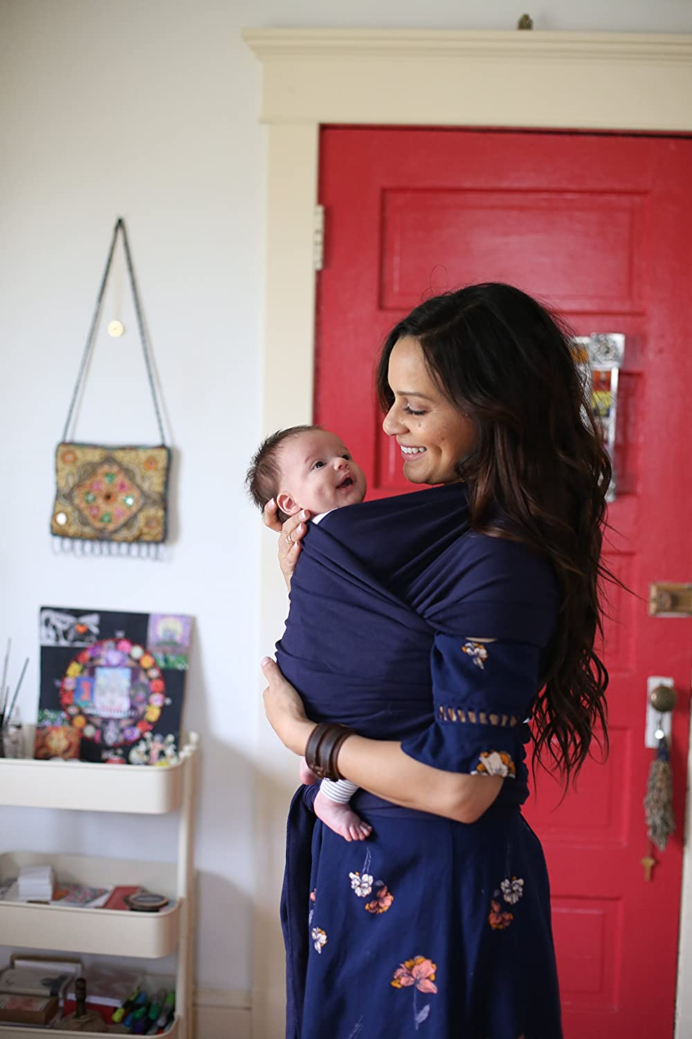 Boba Baby Wrap Carrier Navy 0-18 Months