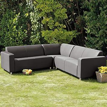 Fantastic Frejus Graphite Grey Corner Sofa Amazon Co Uk Garden Inzonedesignstudio Interior Chair Design Inzonedesignstudiocom