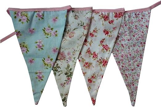 West5Products Guirnaldas de tela con diseño floral inglés para ...