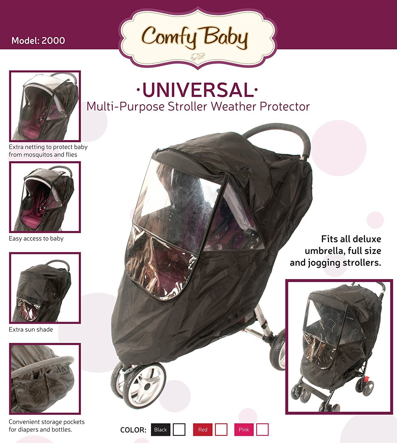 Amazon.com: Comfy bebé. multiuso universal carriola Weather ...