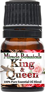 Miracle Botanicals King & Queen Blend - 100% Pure Agarwood (Oud) and Bulgarian Rose Otto Essential Oil Blend - Therapeutic Grade (2.5ML)