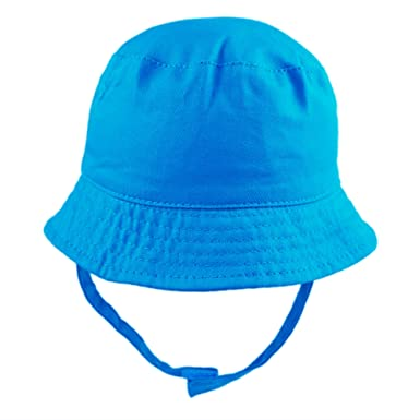 5d62670c Pesci Baby Girls Boys Summer Bucket Sun Hat with Chin Strap (Blue (Electric)