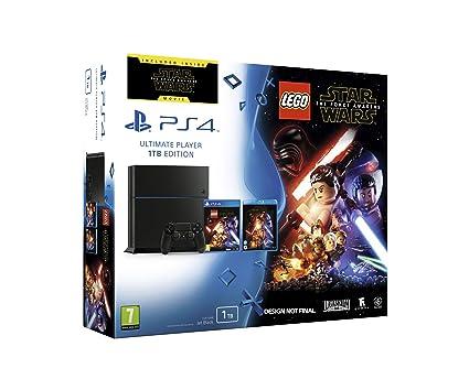 PlayStation 4 - Konsole (1TB) CUH-1216B + Lego Star Wars Das Erwachen der Macht + Blu-Ray