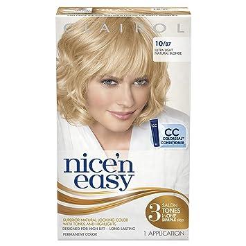 clairol nice n easy hair color 1087 ultra light natural blonde 1 kit - Clairol Nice And Easy Hair Color
