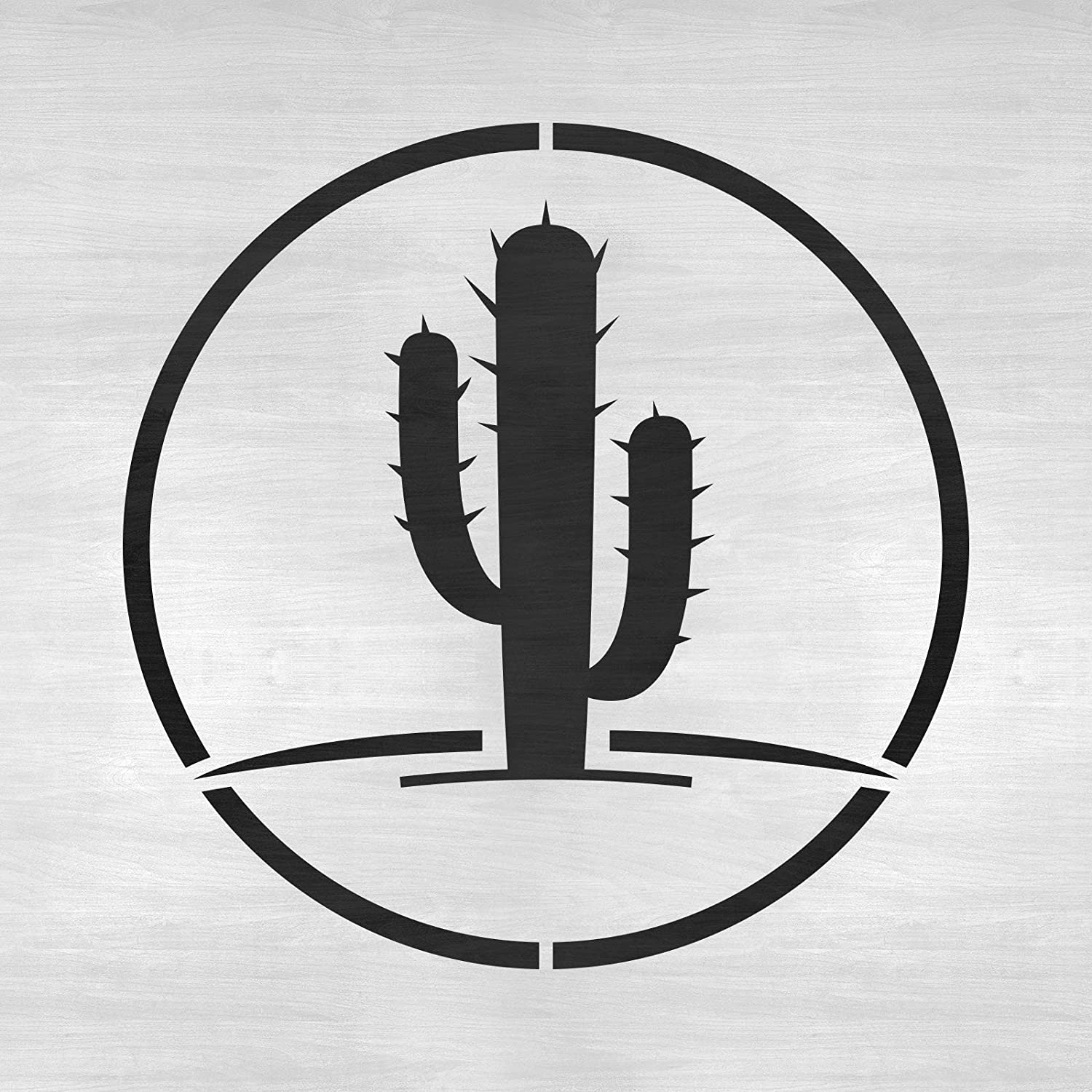 Cactus Stencil Template for Walls and Crafts Reusable Stencils for Painting in Small /& Large Sizes