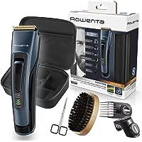Rowenta Kit cuidado barba Signature TN4500, Cortapelos y barbero, cuchillas autoafilables revestimiento titanio, cepillo…