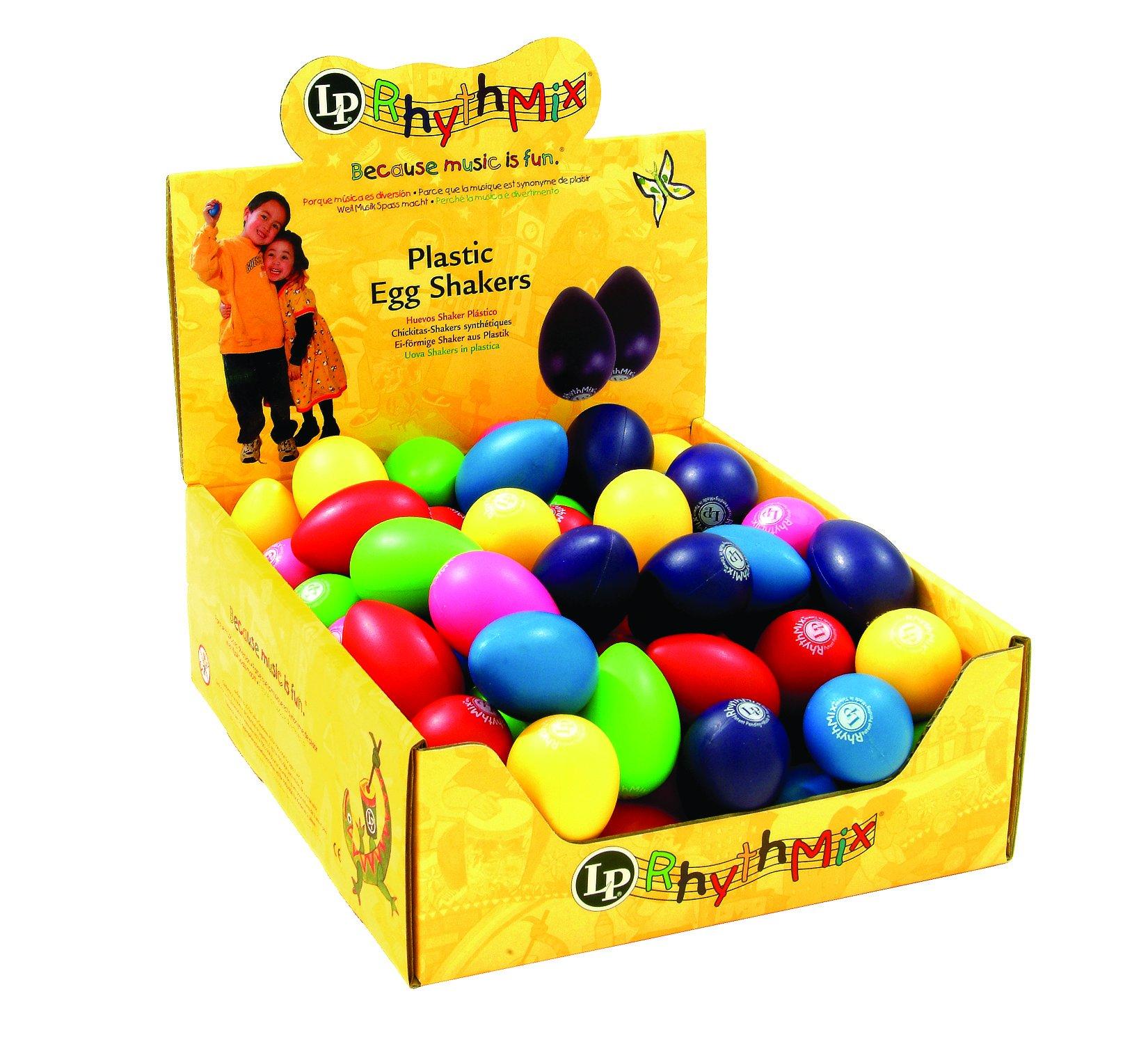 Latin Percussion LPR001BD48-I Rhythmix Plastic Egg Shakers 48-Piece, Assorted Color